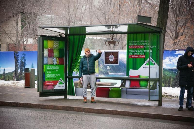 Эффектно оформленные остановки украсили Алматы
